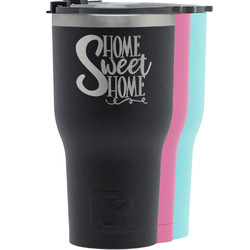 Home Quotes and Sayings RTIC Tumbler - Black (Personalized)