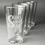 Home Quotes and Sayings Beer Glasses (Set of 4) (Personalized)