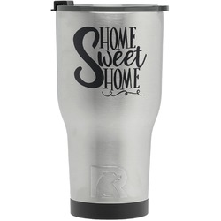 Home Quotes and Sayings RTIC Tumbler - Silver - Engraved Front (Personalized)