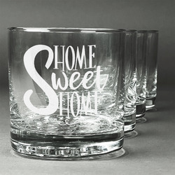 Home Quotes and Sayings Whiskey Glasses (Set of 4) (Personalized)