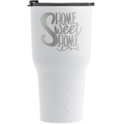 Home Quotes and Sayings RTIC Tumbler - White (Personalized)