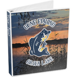 Gone Fishing 3-Ring Binder (Personalized)