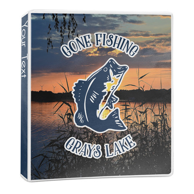 Gone Fishing 3-Ring Binder - 1 inch (Personalized)