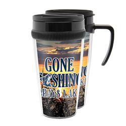 Gone Fishing Acrylic Travel Mugs (Personalized)