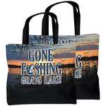 Gone Fishing Beach Tote Bag (Personalized)