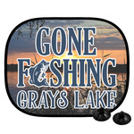 Gone Fishing Car Side Window Sun Shade (Personalized)