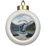 Gone Fishing Ceramic Ball Ornament (Personalized)