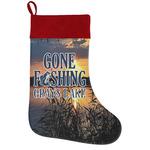 Gone Fishing Holiday Stocking w/ Photo