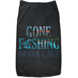Gone Fishing Black Pet Shirt (Personalized)
