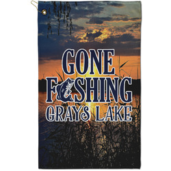 Gone Fishing Golf Towel - Full Print - Small (Personalized)