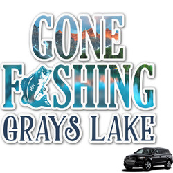 Gone Fishing Graphic Car Decal (Personalized)