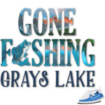 Gone Fishing Graphic Iron On Transfer (Personalized)