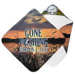 Gone Fishing Hooded Baby Towel (Personalized)