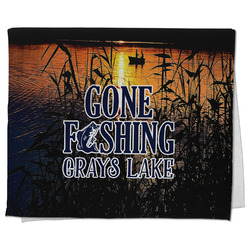 Gone Fishing Kitchen Towel - Full Print (Personalized)