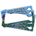 Gone Fishing License Plate Frame (Personalized)