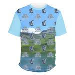 Gone Fishing Men's Crew T-Shirt (Personalized)