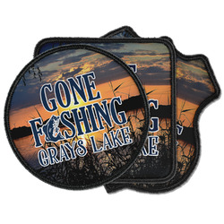 Gone Fishing Iron on Patches (Personalized)
