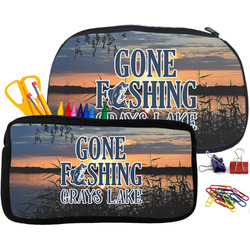 Gone Fishing Pencil / School Supplies Bag (Personalized)