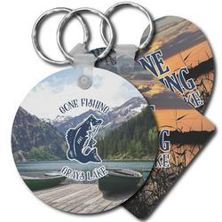 Gone Fishing Plastic Keychains (Personalized)