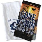 Gone Fishing Waffle Weave Kitchen Towel (Personalized)