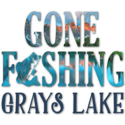 Gone Fishing Graphic Decal - Custom Sizes (Personalized)