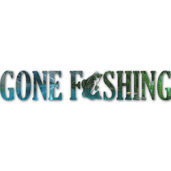 Gone Fishing Name/Text Decal - Custom Sizes (Personalized)