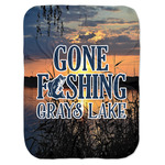 Gone Fishing Baby Swaddling Blanket (Personalized)