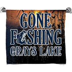 Gone Fishing Full Print Bath Towel (Personalized)