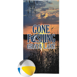 Gone Fishing Beach Towel (Personalized)