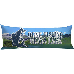 Gone Fishing Body Pillow Case (Personalized)