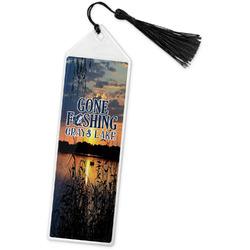 Gone Fishing Book Mark w/Tassel (Personalized)