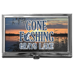 Gone Fishing Business Card Case