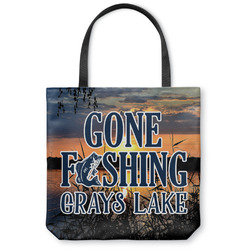 Gone Fishing Canvas Tote Bag (Personalized)