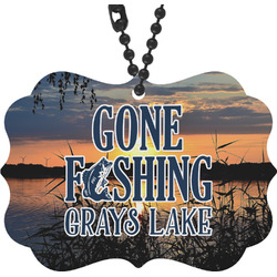 Gone Fishing Rear View Mirror Decor (Personalized)