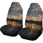 Gone Fishing Car Seat Covers (Set of Two) (Personalized)