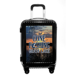 Gone Fishing Carry On Hard Shell Suitcase (Personalized)