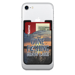 Gone Fishing 2-in-1 Cell Phone Credit Card Holder & Screen Cleaner (Personalized)