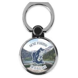 Gone Fishing Cell Phone Ring Stand & Holder (Personalized)