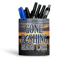 Gone Fishing Ceramic Pen Holder