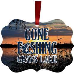 Gone Fishing Ornament (Personalized)
