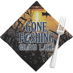 Gone Fishing Cloth Napkins (Set of 4) (Personalized)