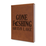 Gone Fishing Leatherette Journal (Personalized)