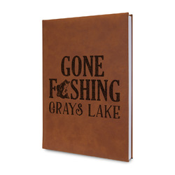 Hunting / Fishing Quotes and Sayings Leatherette Journal (Personalized)