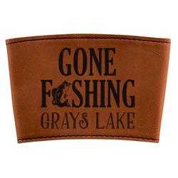 Gone Fishing Leatherette Mug Sleeve (Personalized)