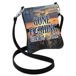 Gone Fishing Cross Body Bag - 2 Sizes (Personalized)