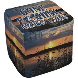 Gone Fishing Cube Pouf Ottoman (Personalized)