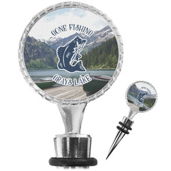 Gone Fishing Wine Bottle Stopper (Personalized)