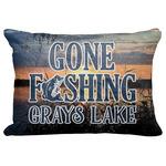 "Gone Fishing Decorative Baby Pillowcase - 16""x12"" (Personalized)"