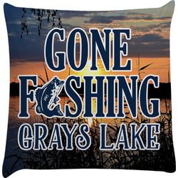 Gone Fishing Decorative Pillow Case (Personalized)