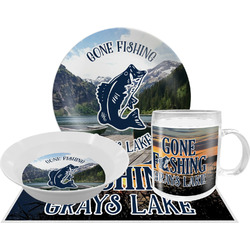 Gone Fishing Dinner Set - 4 Pc (Personalized)